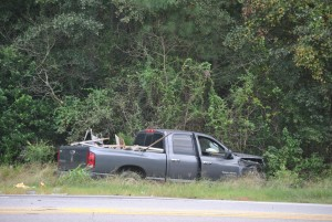 Chris Lewis/Cordele Dispatch Second vehicle involved in collision on Highway 280 which claimed the life of a Crisp County man.