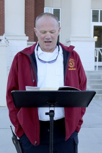Crisp County Fire Chief Jonathan Windham was among the first to read during the marathon.