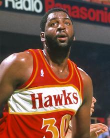 Atlanta Hawks Tree Rollins and John Battle ca. 1986