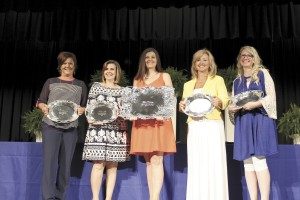 Becky Crissman/Cordele Dispatch Teachers of the Year (l-r) CCPK Toni Lanneau, CCPS Kathy Gill, CCES and District winner Lynn Bullington Ramirez, CCMS Michelle Ingram, and CCHS Macy Young.