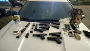 Photo Courtesy of Facebook.com  Items seized following high-speed chase Monday evening.